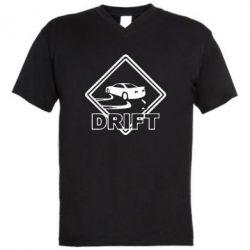 Мужская футболка  с V-образным вырезом Drift - PrintSalon