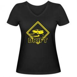 Женская футболка с V-образным вырезом Drift - PrintSalon