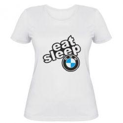 Женская футболка Eat, sleep, BMW