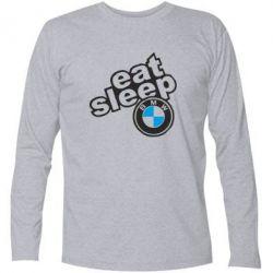 Футболка с длинным рукавом Eat, sleep, BMW