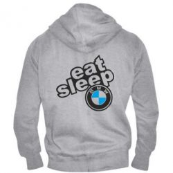 Мужская толстовка на молнии Eat, sleep, BMW