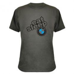 Камуфляжная футболка Eat, sleep, BMW