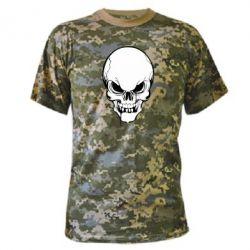 Камуфляжная футболка Evil skull