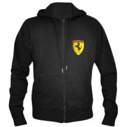 Мужская толстовка на молнии Ferrari 3D Logo