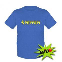 Детская футболка Ferrari - PrintSalon