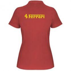 Женская футболка поло Ferrari - PrintSalon