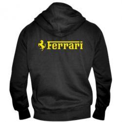 Мужская толстовка на молнии Ferrari - PrintSalon