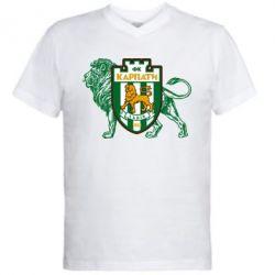 Чоловічі футболки з V-подібним вирізом ФК Карпати Львів - PrintSalon 462ca587a573c