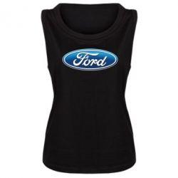 Женская майка Ford 3D Logo - PrintSalon
