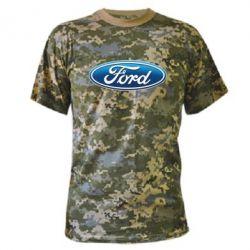 Камуфляжная футболка Ford 3D Logo - PrintSalon