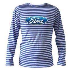 Тельняшка с длинным рукавом Ford 3D Logo - PrintSalon