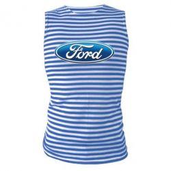 Майка-тельняшка Ford 3D Logo - PrintSalon