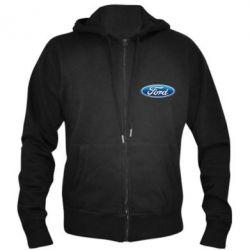 Мужская толстовка на молнии Ford 3D Logo - PrintSalon