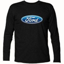 Футболка с длинным рукавом Ford 3D Logo - PrintSalon