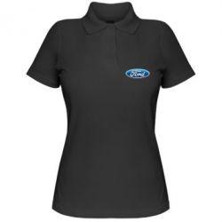 Женская футболка поло Ford 3D Logo - PrintSalon