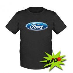 Детская футболка Ford 3D Logo - PrintSalon