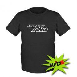 Детская футболка Full time 4wd - PrintSalon