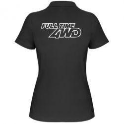 Женская футболка поло Full time 4wd - PrintSalon