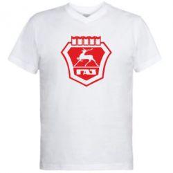 Мужская футболка  с V-образным вырезом ГАЗ - PrintSalon