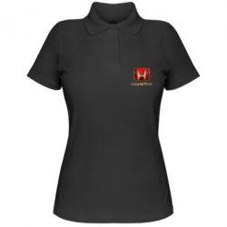 Женская футболка поло Gold Honda - PrintSalon