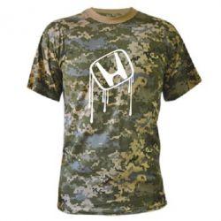Камуфляжная футболка Honda потекла