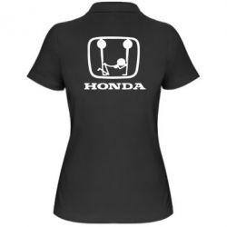 Женская футболка поло Honda - PrintSalon