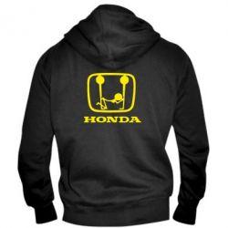 Мужская толстовка на молнии Honda - PrintSalon
