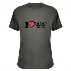 Камуфляжная футболка I love audi