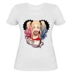 Женская футболка I love Harley Quinn