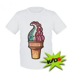 Детская футболка Ice cream Octopus
