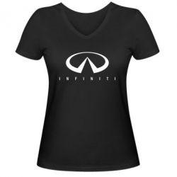 Женская футболка с V-образным вырезом Infiniti
