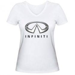 Женская футболка с V-образным вырезом Infinity Logo 3D