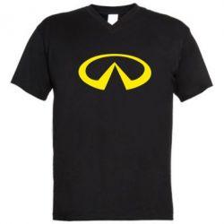 Мужская футболка  с V-образным вырезом Infinity - PrintSalon