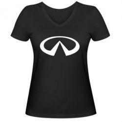 Женская футболка с V-образным вырезом Infinity - PrintSalon