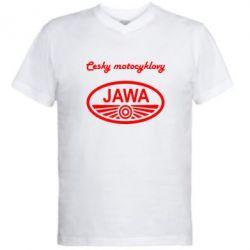 Чоловічі футболки з V-подібним вирізом Java Cesky Motocyclovy 28f3451299841
