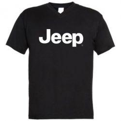 Мужская футболка  с V-образным вырезом Jeep