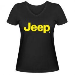 Женская футболка с V-образным вырезом Jeep