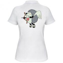 Женская футболка поло Ёжик Амур