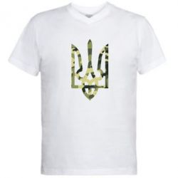 Чоловічі футболки з V-подібним вирізом на тему  Герб України ... 05782ebab67dc