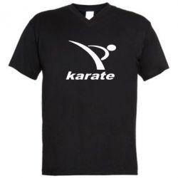 Мужская футболка  с V-образным вырезом Karate