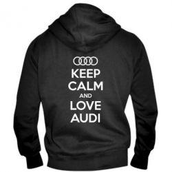 Мужская толстовка на молнии Keep Calm and Love Audi