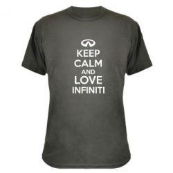 Камуфляжная футболка KEEP CALM and LOVE INFINITI