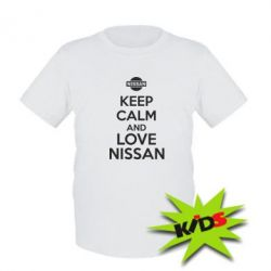 Детская футболка Keep calm and love Nissan
