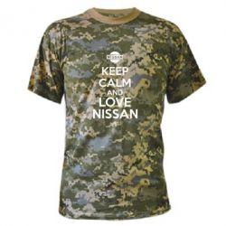 Камуфляжная футболка Keep calm and love Nissan