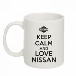 Кружка 320ml Keep calm and love Nissan