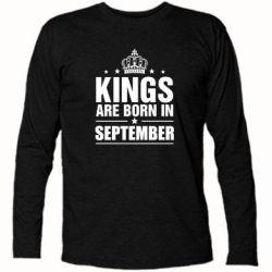 Футболка с длинным рукавом Kings are born in September