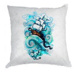 Подушка Корабль на волнах