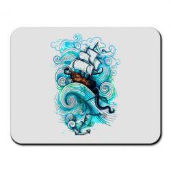 Коврик для мыши Корабль на волнах