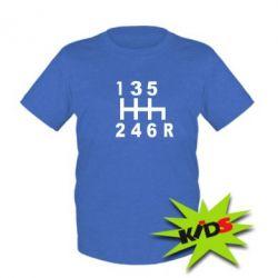 Детская футболка Коробка передач - PrintSalon