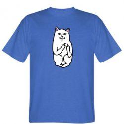 Мужская футболка Кот с факом - PrintSalon